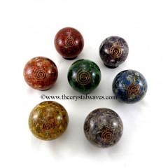 Orgone Ball / Sphere Chakra Set