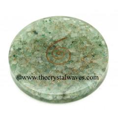 Green Aventurine Chips Orgonite Coasters