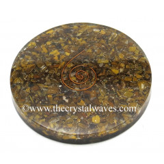 Tiger Eye Agate Chips Orgonite Coasters