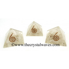 Selenite Chips Orgone Small Baby Pyramids