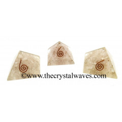 Rose Quartz Chips Orgone Small Baby Pyramids