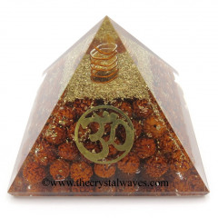 Rudraksha Beads Orgone Pyramid With Om Symbol