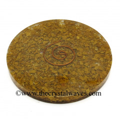 Yellow Japser Chips Orgonite Coasters