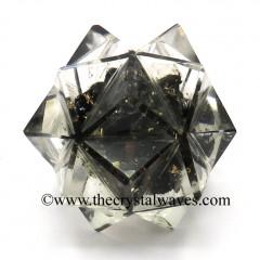 Black Tourmaline Chips Orgone 16 Point Merkaba