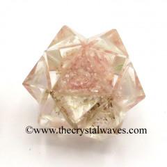 Rose Quartz Chips Orgone 16 Point Merkaba