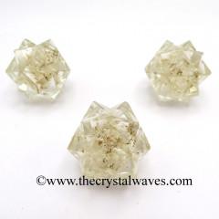 Crystal Quartz Chips Orgone 16 Point Merkaba