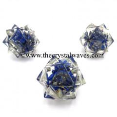 Lapis Lazuli Chips Orgone 16 Point Merkaba
