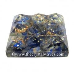 Lapis Lazuli Chips Orgone Lemurian 9 Pyramid Power Plate