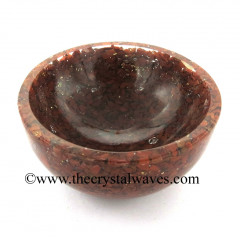 Red Jasper Chips Orgone 2 Inch Bowl