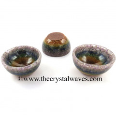 7 Chakra Layered Chips Orgone 2 Inch Bowl
