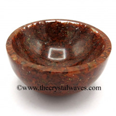 Red Jasper Chips Orgone 4 Inch Bowl