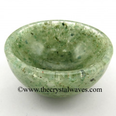 Green Aventurine Light Chips Orgone 4 Inch Bowl