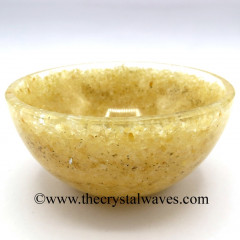 Yellow Aventurine Chips Orgone 4 Inch Bowl