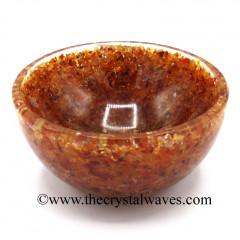 Carnelian Chips Orgone 4 Inch Bowl