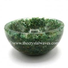 Green Aventurine Chips Orgone 4 Inch Bowl