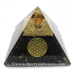 Shungite Chips Orgone Pyramid With Flower Of Life Symbol