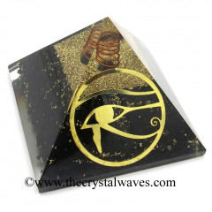 Shungite Chips Orgone Pyramid With Eye Of Horus Symbol