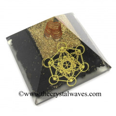 Shungite Chips Orgone Pyramid With Metatron's Cube Symbol