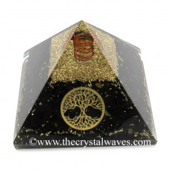 Shungite Chips Orgone Pyramid With Tree Of Life Symbol