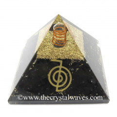 Shungite Chips Orgone Pyramid With Cho Ku Rei Symbol