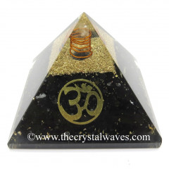 Shungite Chips Orgone Pyramid With Om Symbol