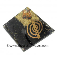 Shungite Chips Orgone Pyramid With 7 Chakra Cho Ku Rei