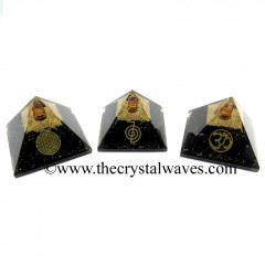 Shungite Chips Orgone Pyramid With Mix Assorted Symbols