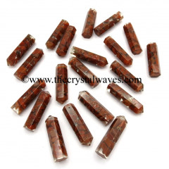 Red Jasper Chips 1.50 Inch Orgone Pencil