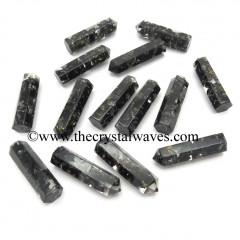 Black Tourmaline Chips 1.50 Inch Orgone Pencil