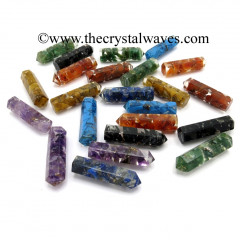 Mix Assorted Gemstone Chips 1.50 Inch Orgone Pencil