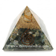 Moss Agate Chips Orgone Pyramids With Copper Wrrapped Crystal Point
