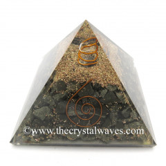 Pyrite Chips Orgone Pyramids With Copper Wrrapped Crystal Point