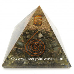 Labradorite Good Quality Chips Orgone Pyramids With Copper Wrrapped Crystal Point