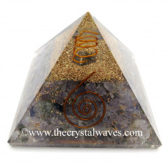 Iolite Chips Orgone Pyramids With Copper Wrrapped Crystal Point
