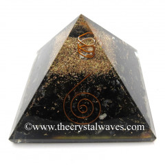 Black Tourmaline Chips Orgone Pyramids With Copper Wrrapped Crystal Point