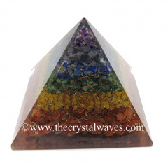 Chakra Natural Layered Chips Big Orgone Pyramids With Copper Wrrapped Crystal Point