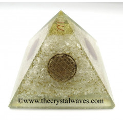 Crystal Quartz Chips Big Orgone Pyramids With Flower Of Life & Copper Wrrapped Crystal Point
