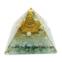 Amazonite Chips Orgone Pyramid With Meru Shreeyantra