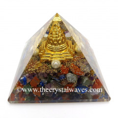 Chakra Chips Orgone Pyramid With Meru Shreeyantra