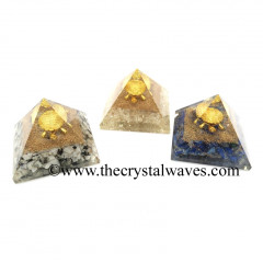 Mix Assorted Gemstone Chips Orgone Pyramid With Fengshui / Vastu Tortoise