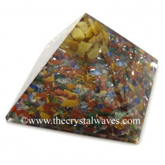 Chakra Chips Base With Yellow Aventurine Tree Orgone Pyramid