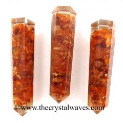 Carnelian Chips Orgone Obelisk