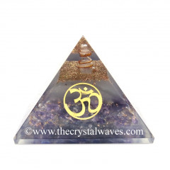 Glow In Dark GID Amethyst Chips Orgone Pyramid With Om