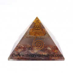 Glow In Dark GID Carnelian Chips Orgone Pyramid With Shreeyantra