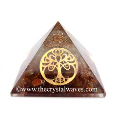 Glow In Dark GID Carnelian Chips Orgone Pyramid With Big New Tree  Of Life
