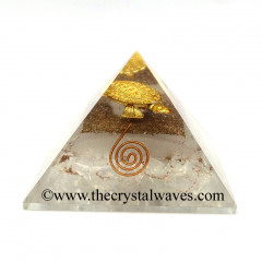 Glow In Dark GID Crystal Quartz Chips Orgone Pyramid With Fengshui / Vastu Tortoise