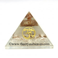 Glow In Dark GID Crystal Quartz Chips Orgone Pyramid With Om