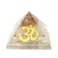 Glow In Dark GID Crystal Quartz Chips Orgone Pyramid With Big Om Symbol