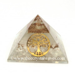 Glow In Dark GID Crystal Quartz Chips Orgone Pyramid With Big New Tree  Of Life