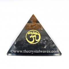 Glow In Dark GID Black Tourmaline Chips Orgone Pyramid With Om
